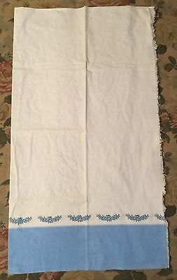 Vintage Flour/Feed Sack Cloth with Blue Floral Boarder
