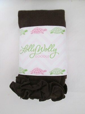 NEW Baby Girls Lolly Wolly Doodle Footless tights, Chocolate Brown, 0-6 months