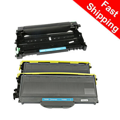 3PK For Brother DCP-7030 DCP-7040 MFC-7840W Drum Unit and Toner TN360 DR360 INK