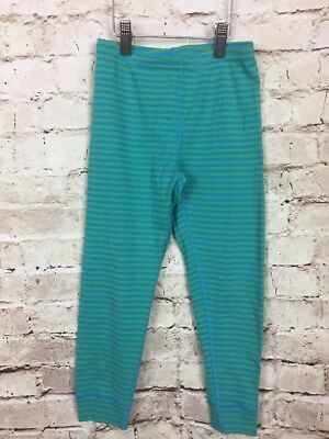 NWOT Hanna Andersson Girls Size 110 US 5 Green Striped Cotton Leggings