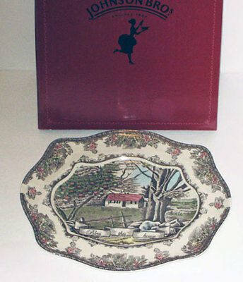Johnson Brothers   FRIENDLY VILLAGE BLESS THIS HOUSE Tray - NEW - Boxed