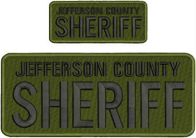 JEFFERSON COUNTY SHERIFF KENTUCKY Embroidery Patches 4x10 and 2x5 hook on back//