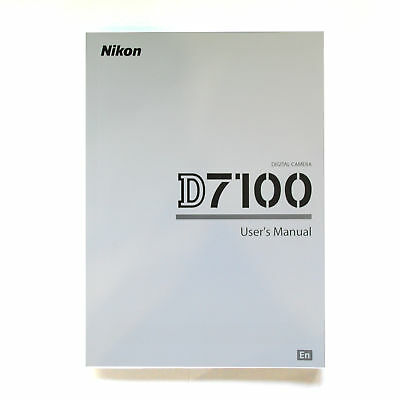 Original  Nikon D7100 -MANUAL - ENGLISH Brand New