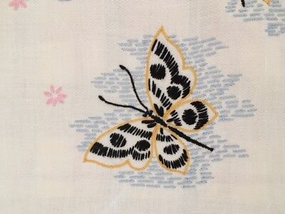 Vintage Embroidered Butterfly Butterflies Table Runner or Dresser Scarf