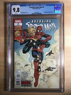 Avenging Spider-Man #9 CGC 9.8! 1st Carol Danvers As Captain Marvel! Key Issue!!