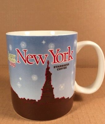 "Starbucks New York Happy Holidays 2009 4"" 16oz Coffee Mug"