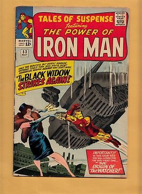 TALES OF SUSPENSE #53 Marvel Comics 1964 Origin Watcher, 2nd Black Widow