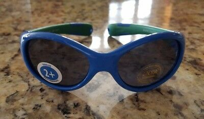NEW Real Kids Shades Toddler Boys Sunglasses Adjustable Band Explorer Blue Green
