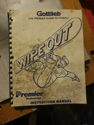 Gottlieb Pinball Wipe Out Instruction Manual