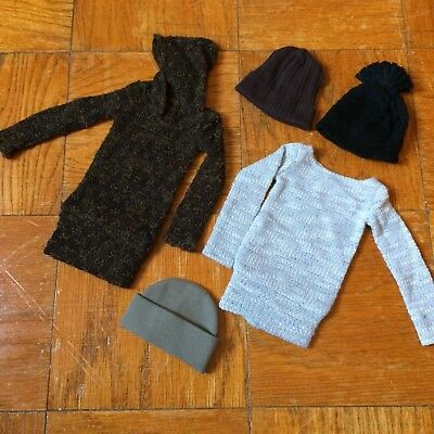 BJD Outfit Lot 17 [SD13 Boy Knit Sweater Hoodie, Top and Hats] Sadol