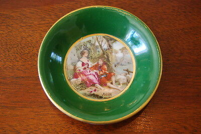 Wonderful Hand Decorated Romantic Miniature French Cabinet Wall Plate By Sabin