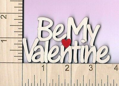 BE MY VALENTINE Valentine's Day word art laser cut and engraved wood Magnet