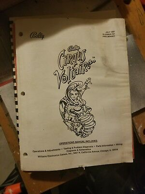 Bally Cirqus Voltaire Pinball Operations Manual