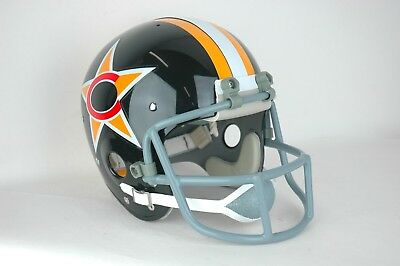 1974 WFL Charlotte Stars Suspension Football Helmet