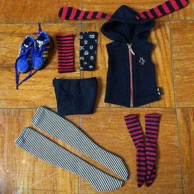 BJD Outfit Lot 25 [SD9 Girl Boy Punk Style, Adidas Authentic Miniature]