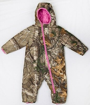Pre-Owned Carhartt Baby Girls Bunting Snowsuit Realtree 18 Months Snow Hunting
