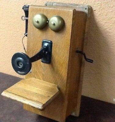 ANTIQUE WOODEN WALL PHONE WESTERN ELECTRIC COMPANY LATE 1800S? --1900s ?