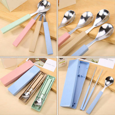 Portable Travel Chopsticks Spoon Set Cutlery Kids Tableware Kitchen  Silverware