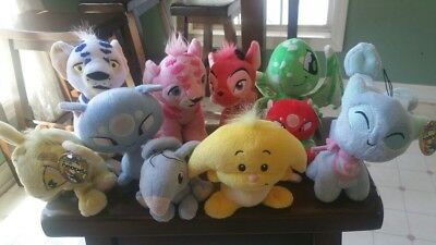 Neopets Plush Lot (Limited Too/Keyquest) (Used) Baby, Kougra, Shoyru, Ixi, Aisha