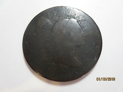 rare 1795 Flowing Hair Liberty Cap Large cent good condition