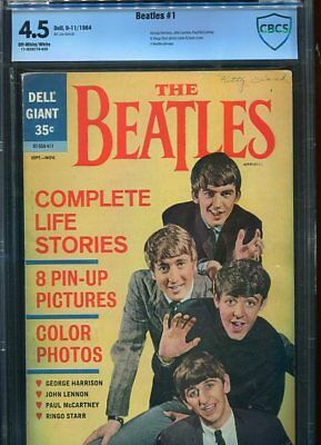The Beatles  #1 Cbcs 4.5 Ow/wh Pgs (1964)  5 Pin-Ups Photo Covers Extremely Rare