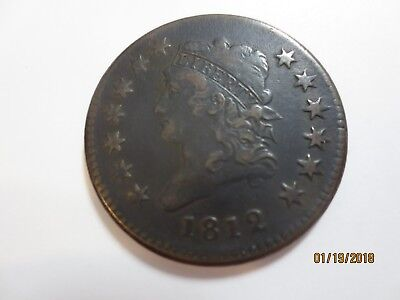 rare 1812 Classic Head Large cent VF condition small date