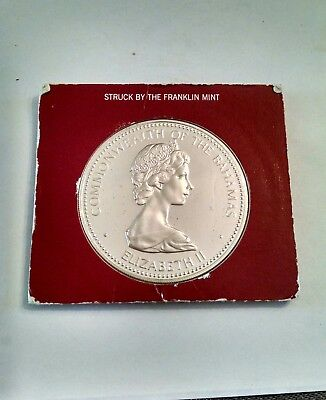 1973 Bahamas 1.4795 Ounce Silver Ten Dollar Coin