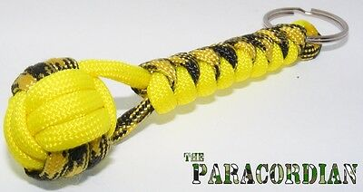 Paracord Monkey Fist Keychain.  Assorted Custom Colors.