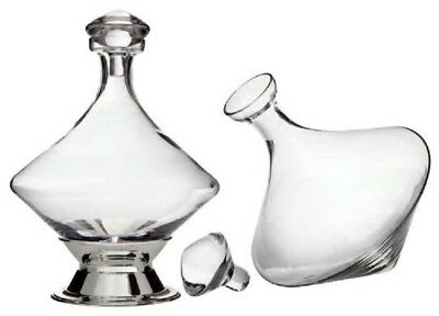 Orbital Decanter w/ Silver Plated Base, Crystal Stopper