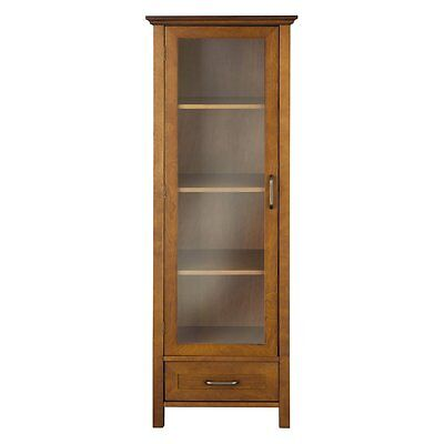 Elegant Home Avery 1 Door Linen Cabinet With Bottom Drawer