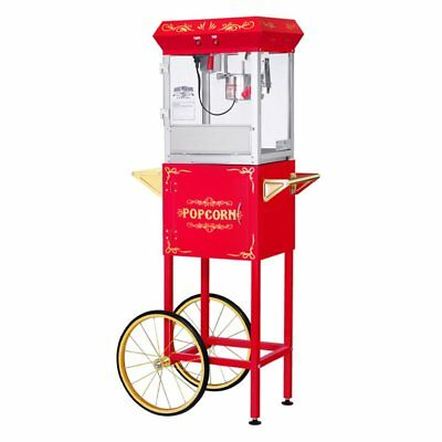 Great Northern Popcorn GNP-400 All Star Popcorn Machine with Cart, Red