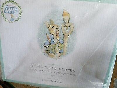 Pottery Barn Kids Peter Rabbit Beatrix Potter Porcelain Plates