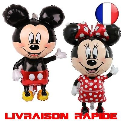 Ballon Mickey Minnie Anniversaire grand géant 112cm big souris fete décoration