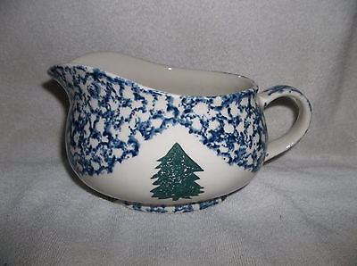 Retired Tienshan Cabin in the Snow Gravy Boat Pitcher -UNUSED-Perfect-HTF Piece!