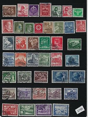 Small Third Reich stamp collection / Includes some better stamps / Nazi Germany