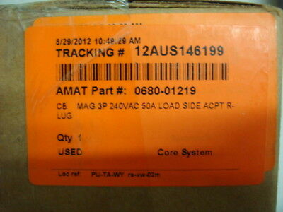 AMAT, Applied Materials, 0680-01219, CB MAG 3P 240VAC 50A LOAD SIDE ACPT R