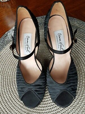 Comme il Faut tango handmade leather/suede black heels size 35 (5)