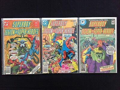 SUPERBOY Lot of 3 DC / Whitman Comic Books - #230 236 256 - LOSH!