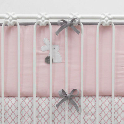Lambs & Ivy Bunny Collection Reversible Perfect Fit Bumper