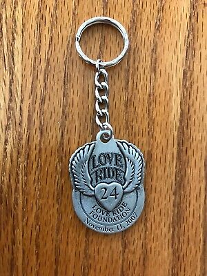 New Harley Davidson Socal #24 Love Ride Charity Foundation Metal Key Chain Fob