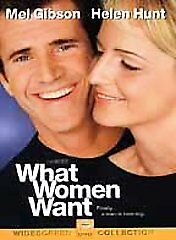 """What Women Want"" Romantic Comedy Film stars Mel Gibson and Helen Hunt on DVD"