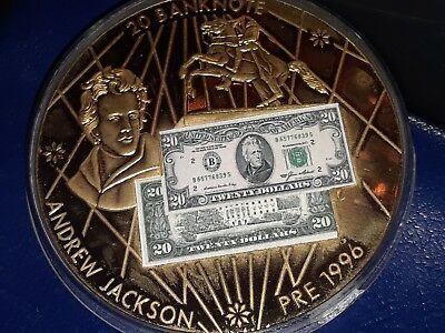 2004 Banknotes of the USA Andrew Jackson $20 Proof Coin w/ COA