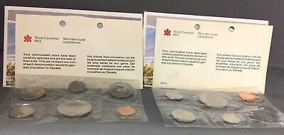 1981 & 1982 Royal Canadian Mint Uncirculated Coin Sets