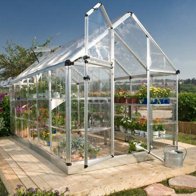 Palram Snap & Grow 6 x 16 ft. Greenhouse - Silver, Silver, 6' X 16' X 7'