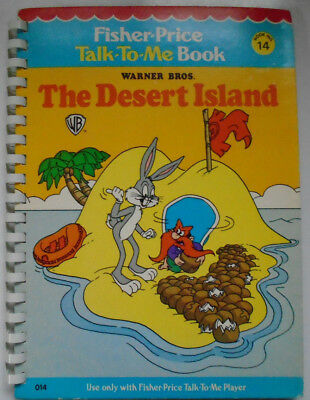 Fisher Price Talk To Me Book #14, The Desert Island, Bugs Bunny, 1979