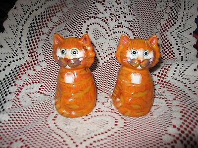 Vintage Pair of Calico Kitty Cat Salt & Pepper Shakers Bella Casa Ganz