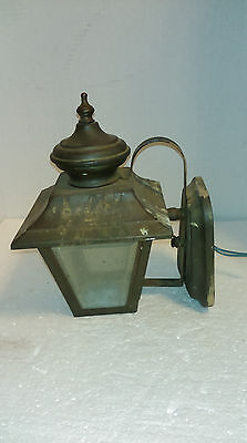 Vintage Cast Aluminum Porch Sconce Light Fixture