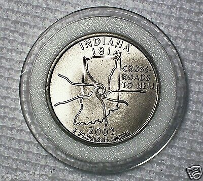 Daniel Carr - 2002 Indiana Parody Quarter, Nickel-copper