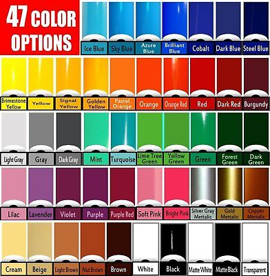 15 ROLLS 5 ft x 12 in You Pick from 52 Colors Oracal 651 Vinyl craft hobby signs
