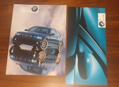 Bmw M3 Brochures E46 2001 Coupe Convertible Collectible Advertising Lot